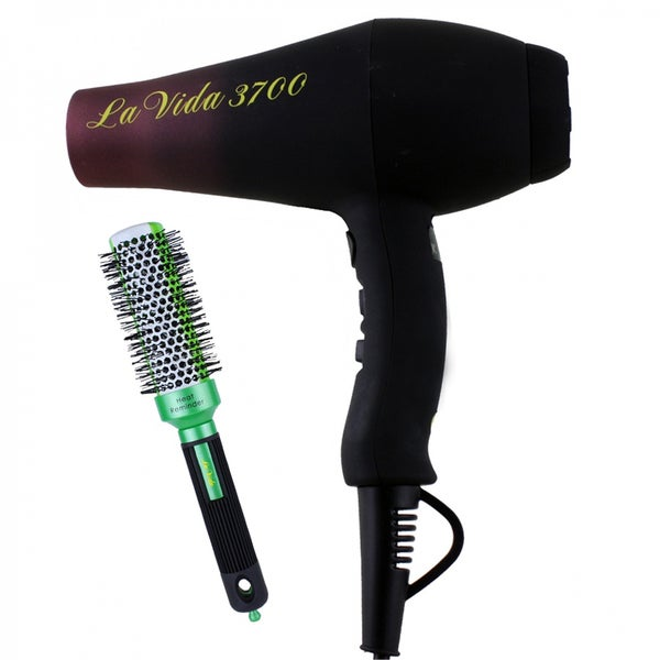 Ovente 3700 Professional Hair Dryer with Thermal Round Brush