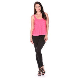 Stanzino Women's Coral Cropped Sleeveless Top