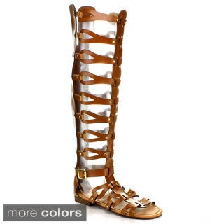 FOREVER ATTA-17 Women's Keen High Strappy Gladiator Sandals
