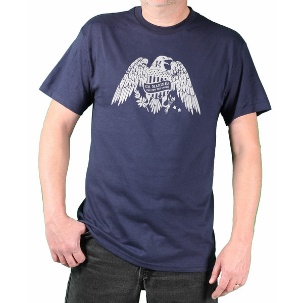 USMC Men's Navy Eagle Printed Tee