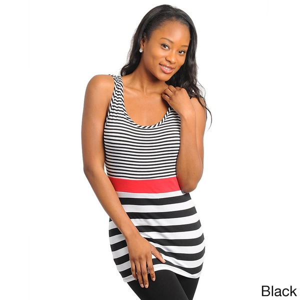 Stanzino Women's Sleeveless Striped Tank Top