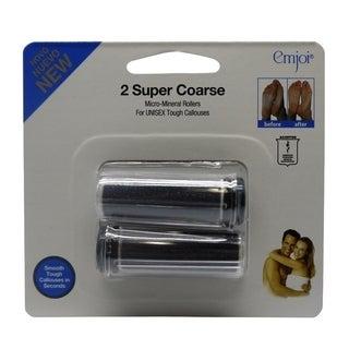 Emjoi Micro-pedi Super Coarse Micro Mineral Rollers (Pack of 2)