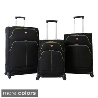 SwissGear Arbon Collection Lightweight Expandable 3-piece Spinner Luggage Set