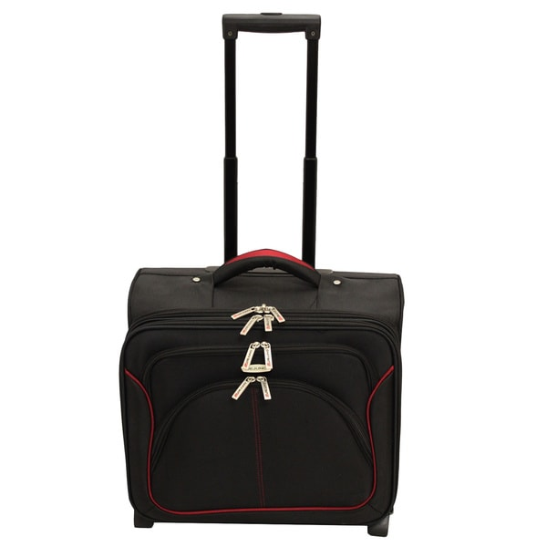 Dejuno Black Rolling Carry On Overnight 15-inch Laptop Case