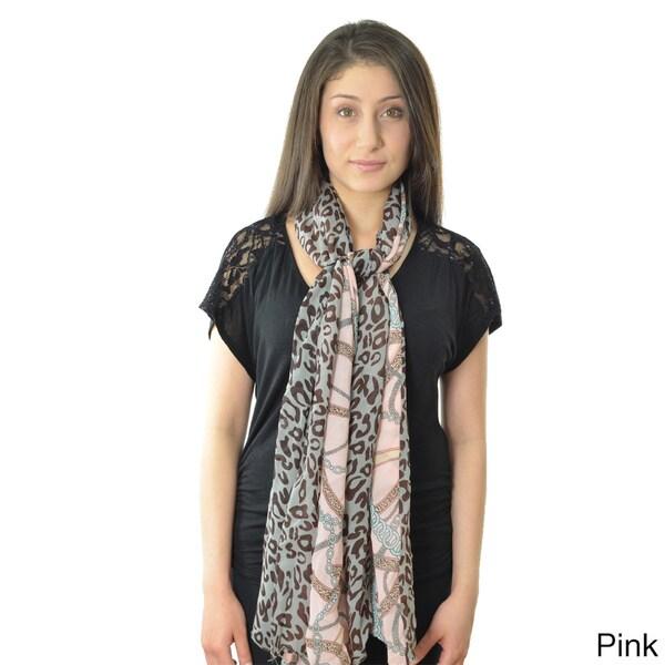 Leopard Print Chain Scarf
