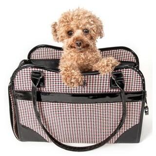 Pet Life Houndstooth Exquisite Handbag Fashion Pet Carrier - One size