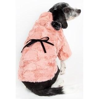 Pet Life Pink Mink Luxury Designer Pet Coat