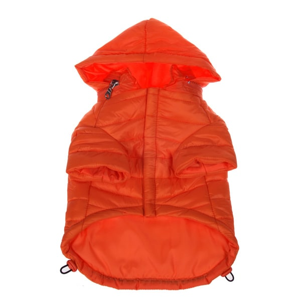 Pet Life Adjustable 'Sporty Avalanche' Orange Pet Coat