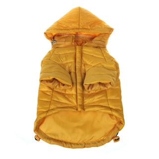 Pet Life Adjustable 'Sporty Avalanche' Yellow Pet Coat
