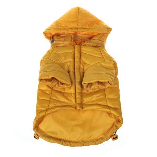 Pet Life Adjustable 'Sporty Avalanche' Yellow Pet Coat