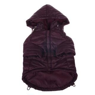 Pet Life Adjustable 'Sporty Avalanche' Brown Pet Coat