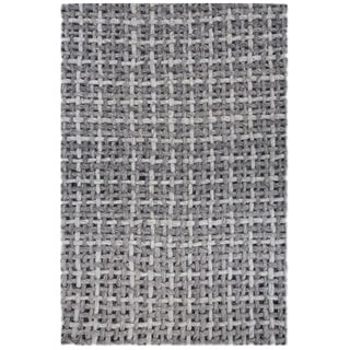 Handmade Basket Weave Eco-friendly Felt Wool Large Designer Rug (6'5 x 9'8)