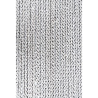 Braid Rules Silver/ Grey Modern Handmade Eco-friendly Thick Felt Wool Rug