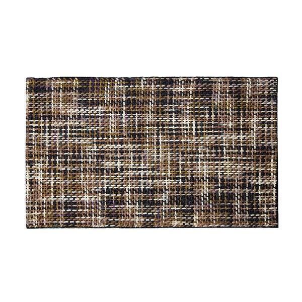 ARTAJUL Handmade Basket Weave Brown Flat Soft Felt Wool Area Rug (6'5' x 9'8)