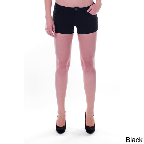 Women's Slim-fit Studded Back Pocket Stretch Shorts