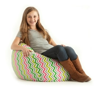 BeanSack Classic Small Zig Zag Multi Print Bean Bag Lounge Chair