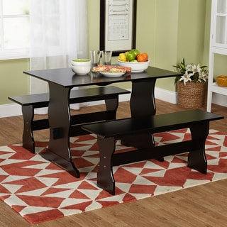 Leah Black 3-piece Dining Table Set