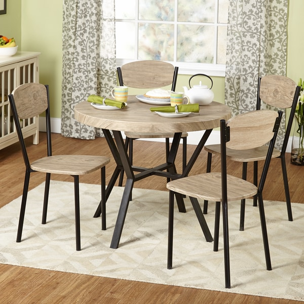 Simple Living Piazza Natural/ Black Contemporary 5piece Dining Set