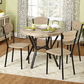 Simple Living Piazza Natural/ Black Contemporary 5-piece Dining Set