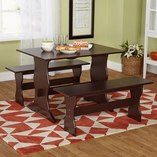 Simple Living Leah Espresso 3-piece Dining Set