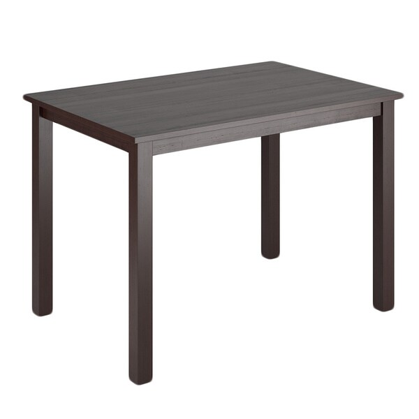 corliving atwood 43 inch wide cappuccino stained dining table