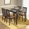 CorLiving Atwood 5-piece Dining Set with Beige Microfiber Seats