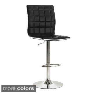 Adjustable Waffle Bar Stool with Footrest (Set of 2)