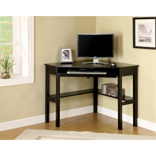 Jena Black Corner Desk with Keyboard Tray