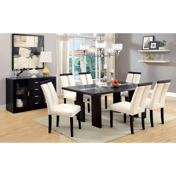 Bristol LED Light Espresso Dining Set
