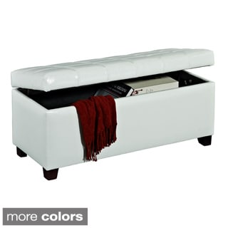 Abby Faux Leather Storage Ottoman