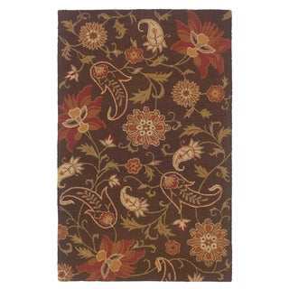 LNR Home Dazzle Brown Rectangle Area Rug (5' x 7'9)