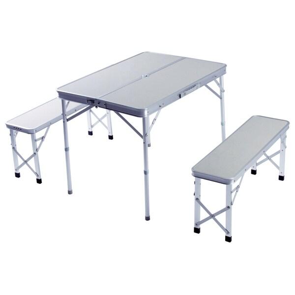 Slim Jim Aluminum Folding Picnic Table Set