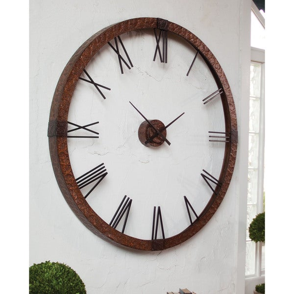 uttermost amarion large metal wall clock 16291407