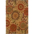 LNR Home Dazzle Rustic Natural Floral Area Rug (5'3 x 7'5)