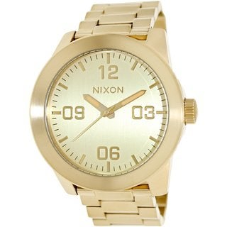 Nixon Men's A346-502 Corporal SS All Gold Watch