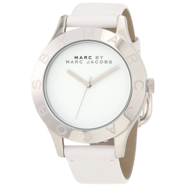 Marc Jacobs Women's MBM1200 White Leather Watch