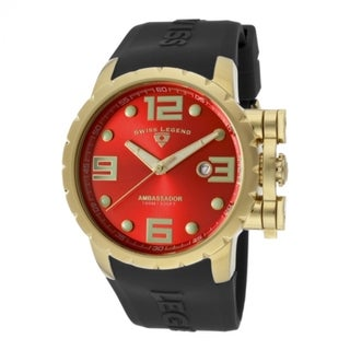 Swiss Legend Men's Ambassador Red Watch SL-30021-YG-05