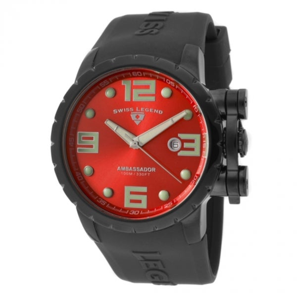 Swiss Legend Men's Ambassador Red Watch SL-30021-BB-05