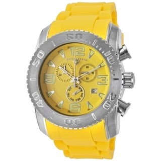 Swiss Legend Men's Commander Yellow Textured Watch SL-10067-07
