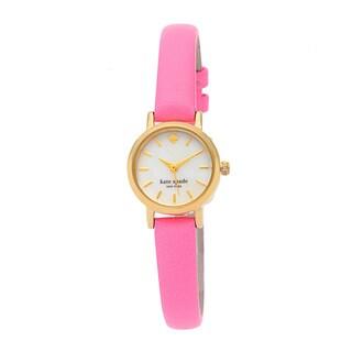 kate spade New York Women's 1YRU0367 Tiny Metro Pink Leather Strap Watch