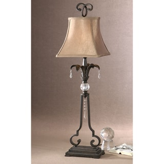 Sorrento Buffet Metal and Crystal Lamp