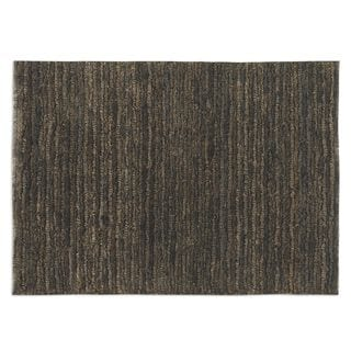Hand-knotted Jessore Brown/ Beige Jute Area Rug (6' x 9')