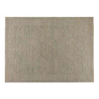 Hand-knotted Malatya Beige/ Grey Wool Area Rug (6' x 9')