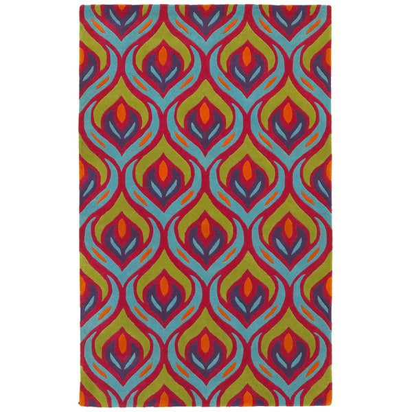 LNR Home Vibrance Multi-colored Abstract Area Rug (7'9 x 9'9) 13088625