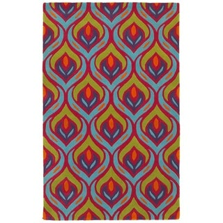 LNR Home Vibrance Multi-colored Abstract Area Rug (7'9 x 9'9)