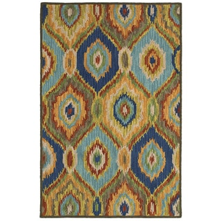 LNR Home Dazzle Blue Multi Geometric Area Rug (5' x 8')