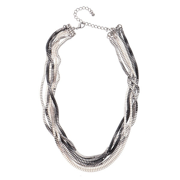 "Alexa Starr 6-row ""Scale"" Box Chain Necklace"