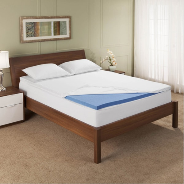 Bodipedic 2.5-inch Gel Memory Foam Mattress Topper with Cover