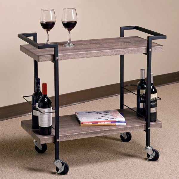 Wood Serving Cart ~ Serving beverage carts house home