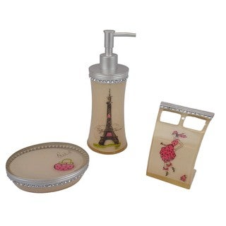 Sherry Kline Paris with Love Resin 3-piece Bath Accessory Set